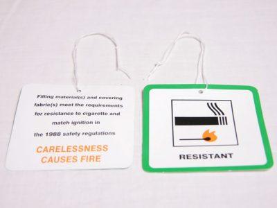 Green FR Resistant Swing Ticket