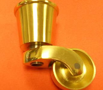 Brass Castor 32mm Round