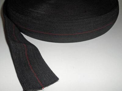 Black Single Stripe Seat Webbing
