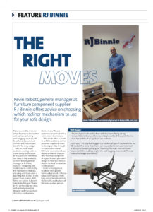 The Right Moves – Cabinet Maker Article Aug 2016