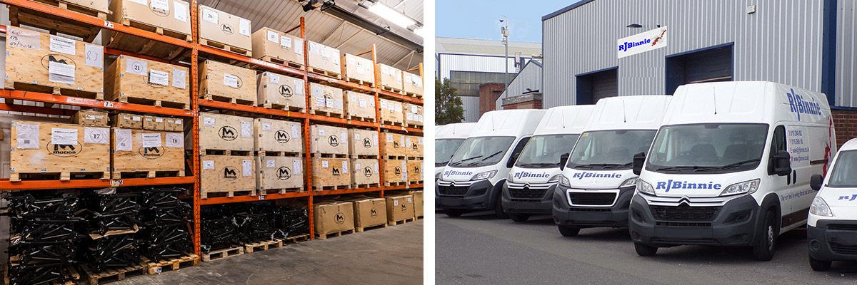 RJ Binnie office and vans leicester